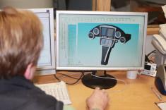CAD Entwurf von einem Armaturenbrett