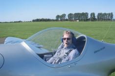 Matthias im Cockpit