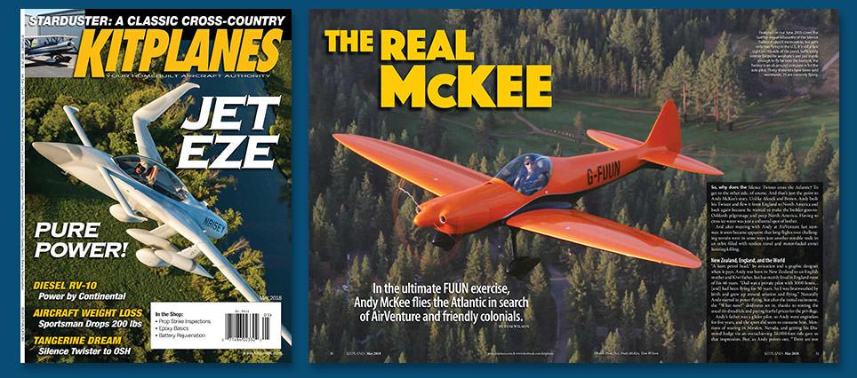 Andy McKee Kitplanes Magazine